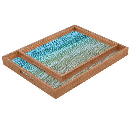 DENY Designs Shannon Clark Ombre Sea Rectangular Tray