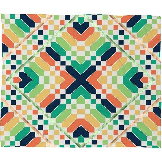 DENY Designs Budi Kwan Retrographic Rainbow Polyesterrr Fleece Throw Blanket