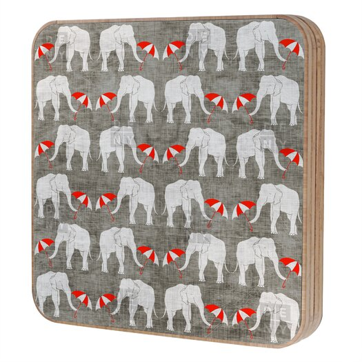 DENY Designs Holli Zollinger Elephant and Umbrella Jewelry Box