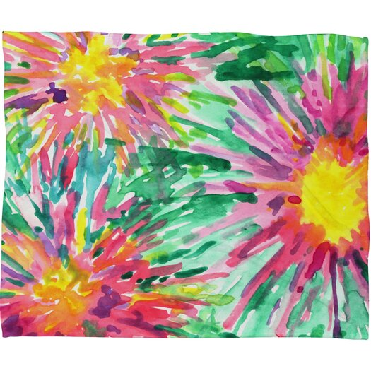 DENY Designs Joy Laforme Floral Confetti Polyesterrr Fleece Throw Blanket