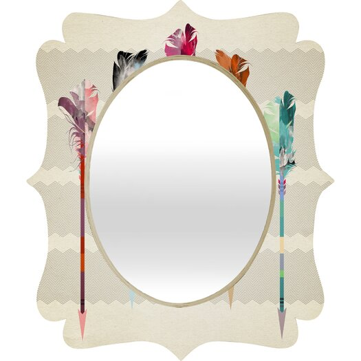 DENY Designs Iveta Abolina Feathered Arrows Quatrefoil Mirror