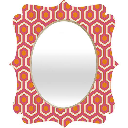 DENY Designs Caroline Okun Zest Quatrefoil Mirror