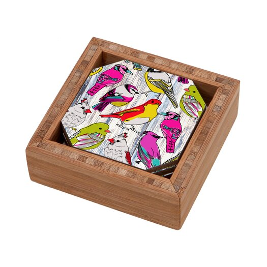 DENY Designs Mary Beth Freet Couture Home Birds Coaster