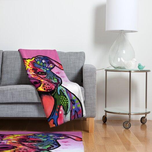 DENY Designs Dean Russo Cherish The Pitbull Polyester Fleece Throw Blanket