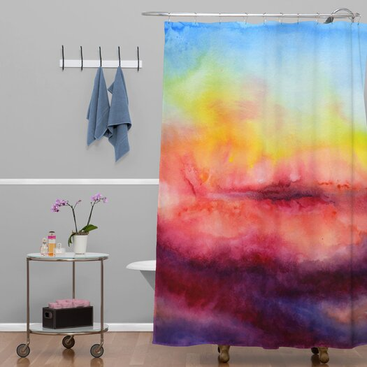 DENY Designs Jacqueline Maldonado Woven Polyester Kiss of Life Shower Curtain