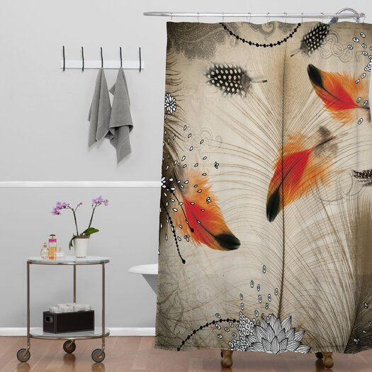 DENY Designs Iveta Abolina Polyester Feather Dance Shower Curtain