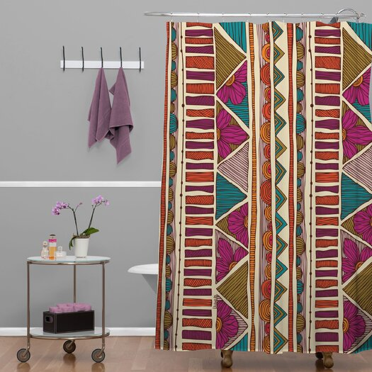 DENY Designs Valentina Ramos Woven Polyester Ethnic Stripes Shower Curtain