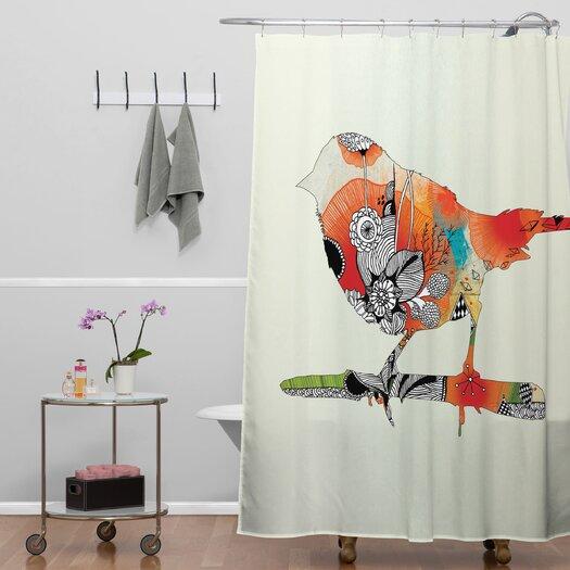 DENY Designs Iveta Abolina Polyester Little Bird Shower Curtain