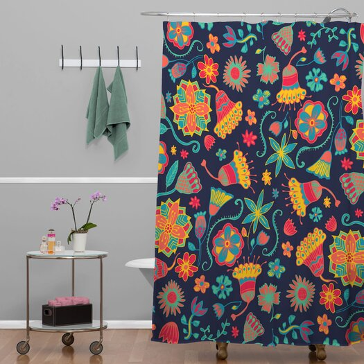 DENY Designs Arcturus Bloom 1 Polyester Shower Curtain