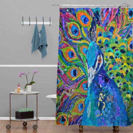 DENY Designs Elizabeth St Hilaire Nelson Cacophony of Color Polyester Shower Curtain