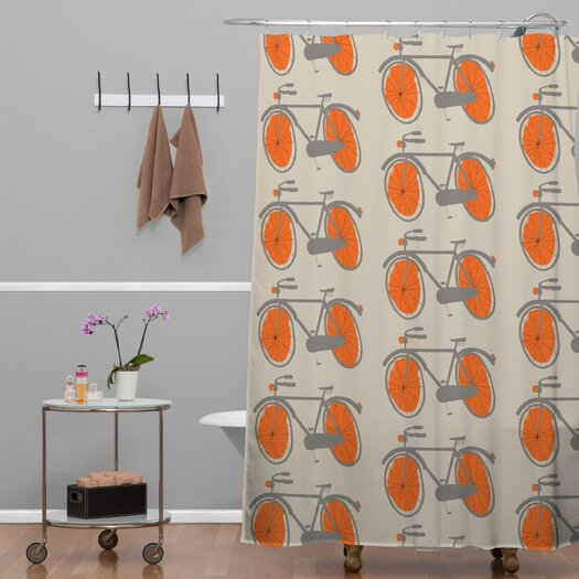 DENY Designs Mummysam Bicycles Woven Polyester Shower Curtain