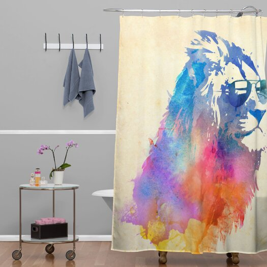 DENY Designs Robert Farkas Woven Polyester Sunny Leo Shower Curtain