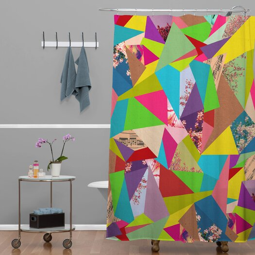 DENY Designs Bianca Woven Polyester Colorful Thoughts Shower Curtain