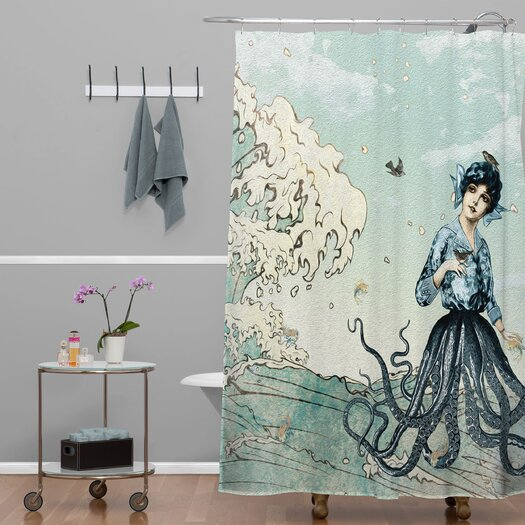 DENY Designs Belle13 Sea Fairy Polyester Shower Curtain