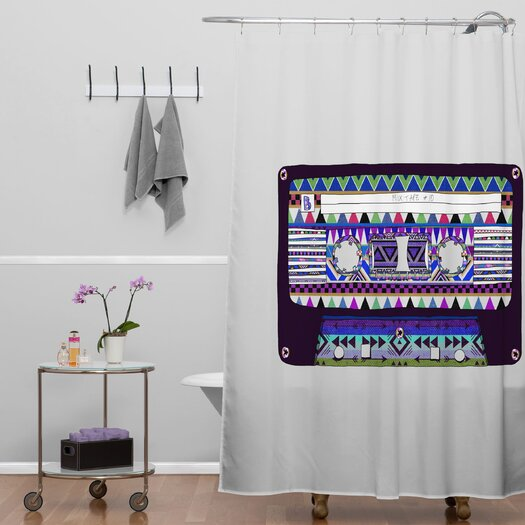 DENY Designs Bianca Woven Polyester Mix Tape No 10 Shower Curtain
