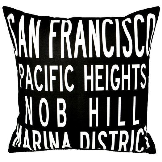 Uptown Artworks San Francisco Pillow