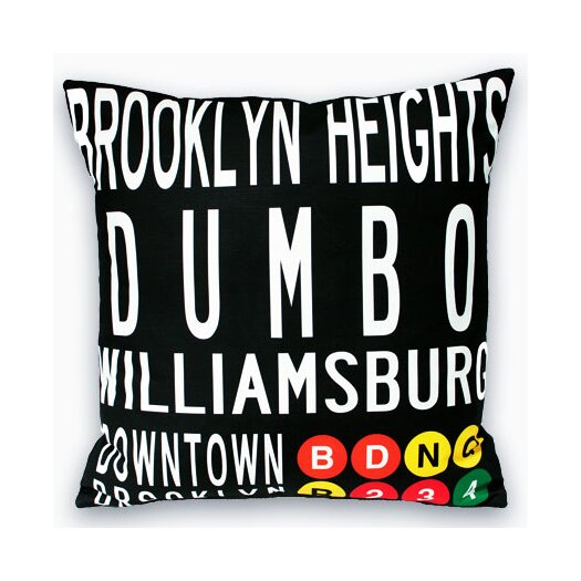 Uptown Artworks Downtown Brooklyn Pillow