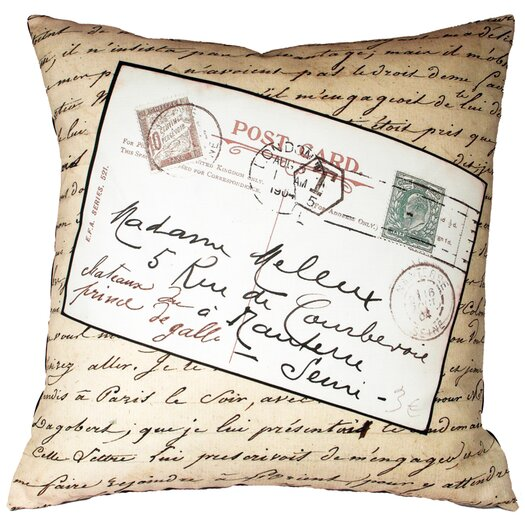 Uptown Artworks French Vintage Postcard Pillow