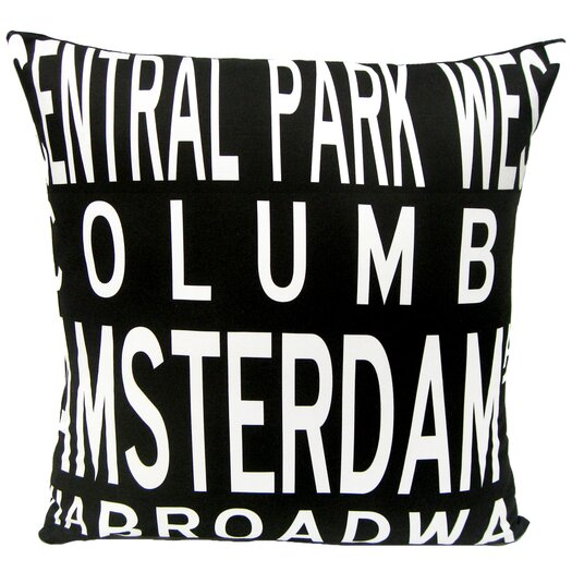 Uptown Artworks Upper West Side-NY Pillow