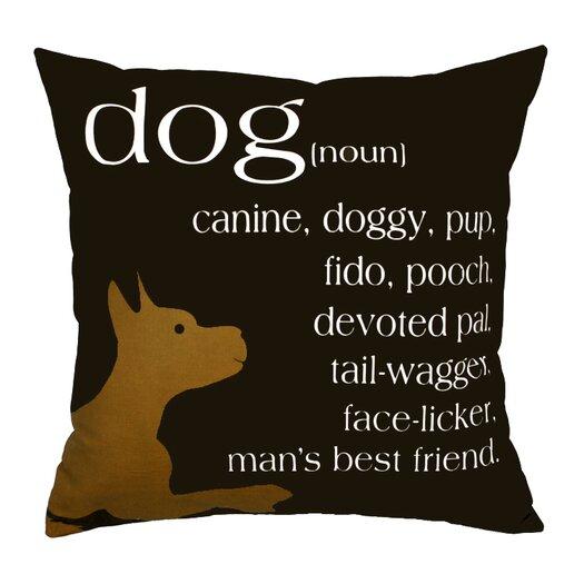 Uptown Artworks Dog Noun Pillow