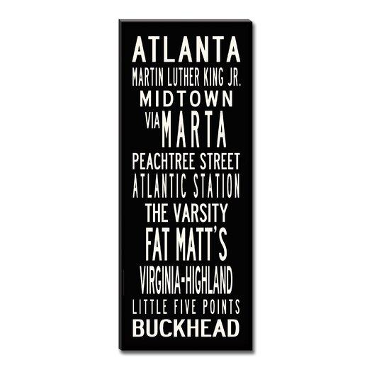 Uptown Artworks Atlanta Textual Art Giclee Printed on Canvas