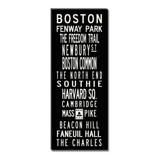 Uptown Artworks Boston Textual Art on Canvas