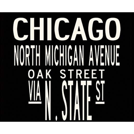 Uptown Artworks Chicago Textual Art Giclee Printed on Canvas