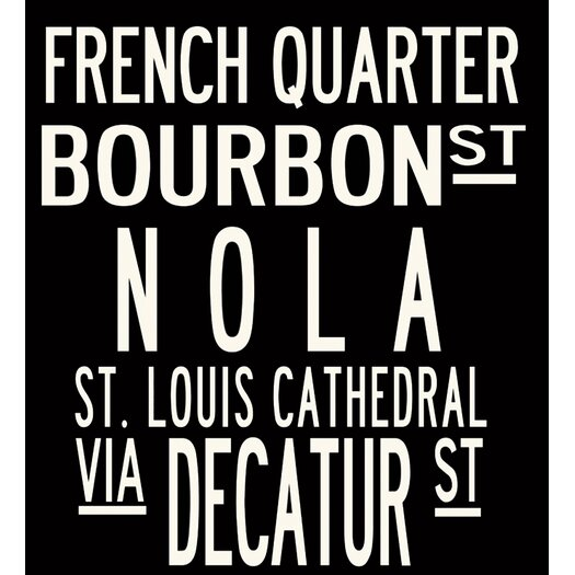 Uptown Artworks New Orleans Textual Art on Canvas