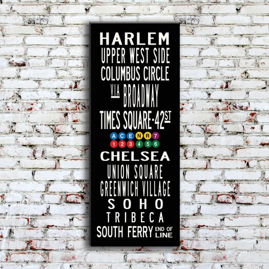 Uptown Artworks New York Neighborhoods Textual Art on Canvas