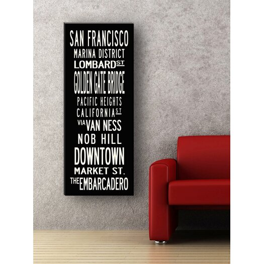 Uptown Artworks San Francisco Textual Art on Canvas