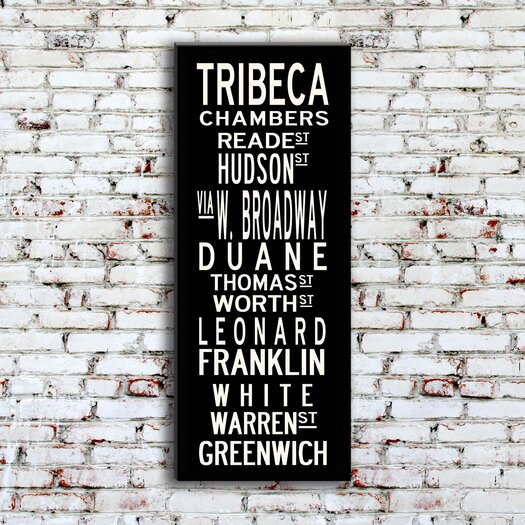 Uptown Artworks Tribeca Textual Art Giclee Printed on Canvas