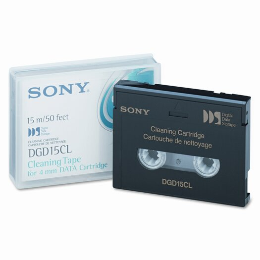 Sony Electronics Dry Process Cleaning Cartridge for 4MM DDS/DataDAT, 30 to 50 Uses