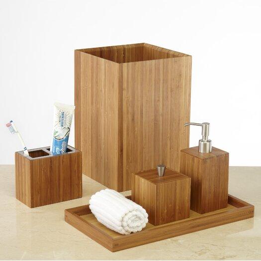 Seville Classics 5 Piece Bamboo Bath & Vanity Set