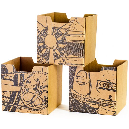 Sprout Cardboard Vehicle Cubby Bins