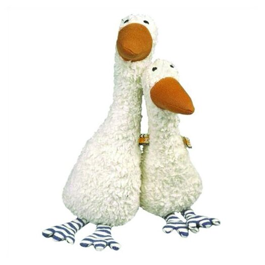 Challenge & Fun Lana Goose Organic Stuffed Animal in White