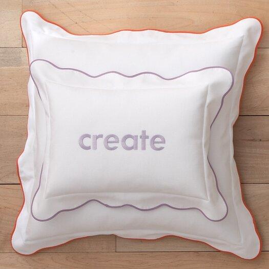 Peacock Alley Pique Scalloped Cotton Decorative Pillow