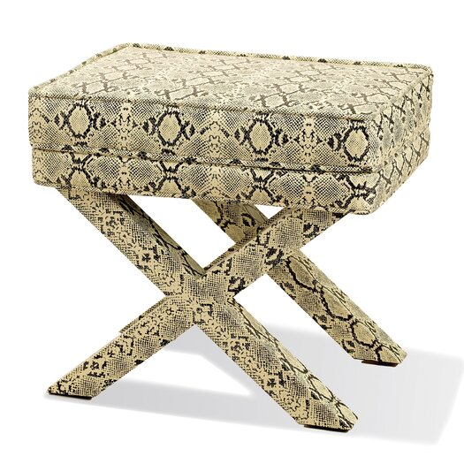 Two's Company Royal Python Fabric Bench