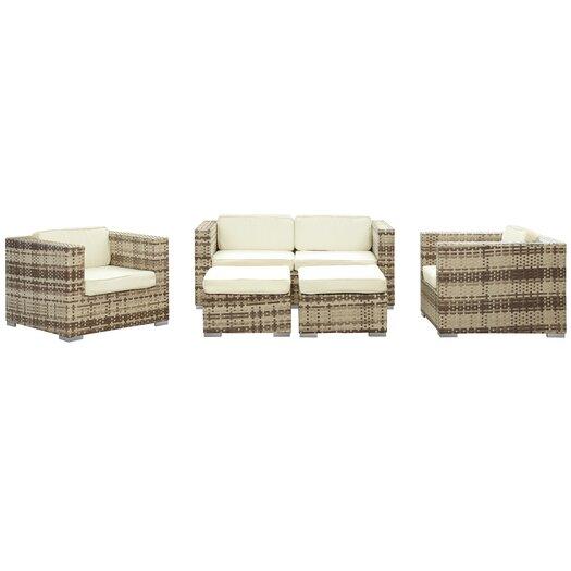 Modway Malibu 5 Piece Seating Group with Cushions