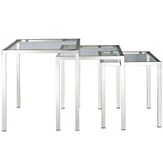 Modway Nimble 3 Piece Nesting Table Set