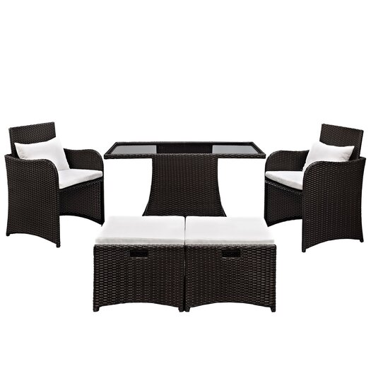 Modway Artesia 5 Piece Deep Seating Group with Cushions