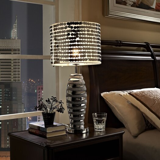 """Modway Sparkle 25.5"""" H Table Lamp with Drum Shade"""