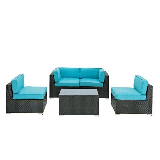 Modway Camfora 5 Piece Deep Seating Group with Cushions