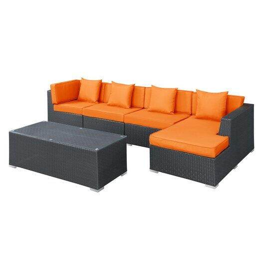 Modway Signal 5 Piece Deep Seating Group with Cushions
