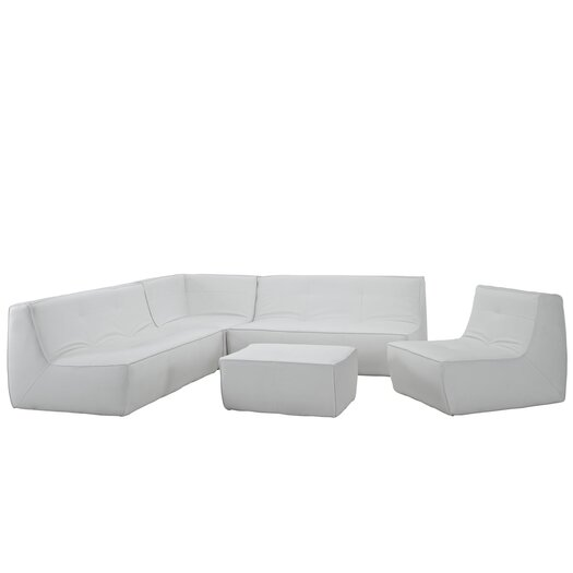 Modway Align Leather Sectional