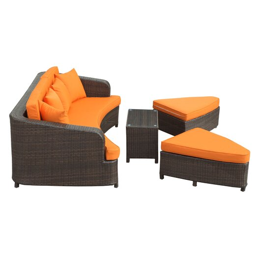Modway Monterey 4 Piece Deep Seating Group with Cushions