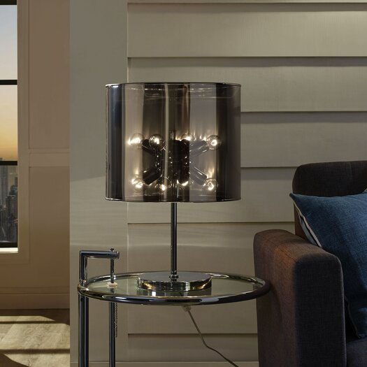 """Modway Arena 21"""" H Table Lamp with Drum Shade"""