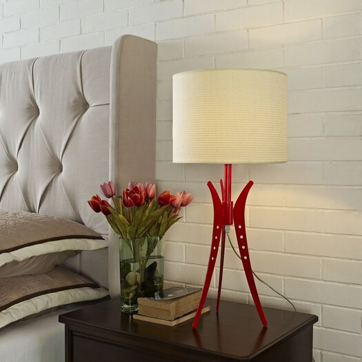 """Modway Flair 25"""" H Table Lamp with Drum Shade"""