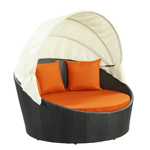 Modway Snooze Canopy Outdoor Patio Daybed with Cushions