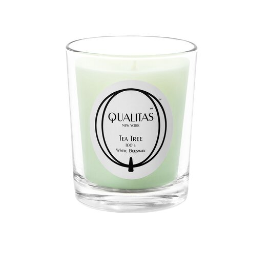 Qualitas Candles Beeswax Tea Tree Scented Candle