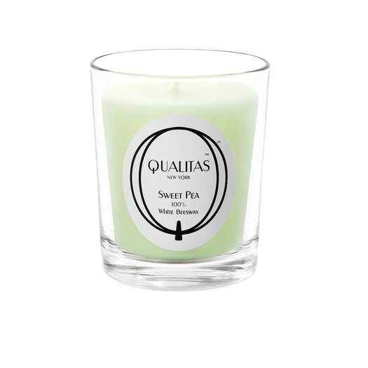 Qualitas Candles Beeswax Sweet Pea Scented Candle